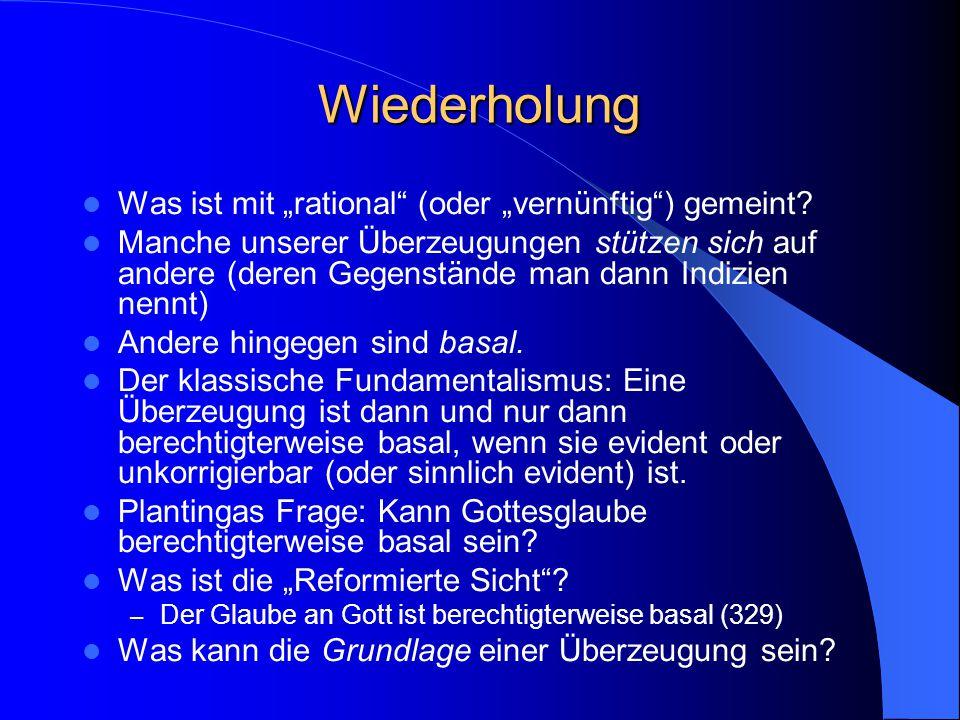 Proseminar: Glaube und Vernunft 26. April 2005 Daniel von Wachter http://daniel.von-wachter.de