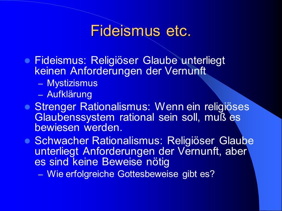Fideismus etc.