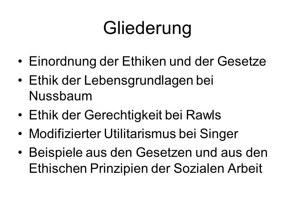 Modifizierte Utilitarismus bei Peter Singer Anders als der klassische Utilitarismus, der das Interesse der größten Zahl gegen das Einzelinteresse aufwiegt, setzt Singer alle Interessen gleich: Das Prinzip der gleichen Interessenabwägung.