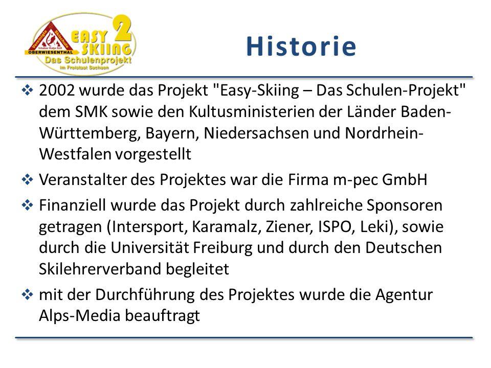 Historie  2002 wurde das Projekt