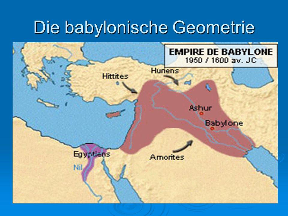 Die babylonische Geometrie