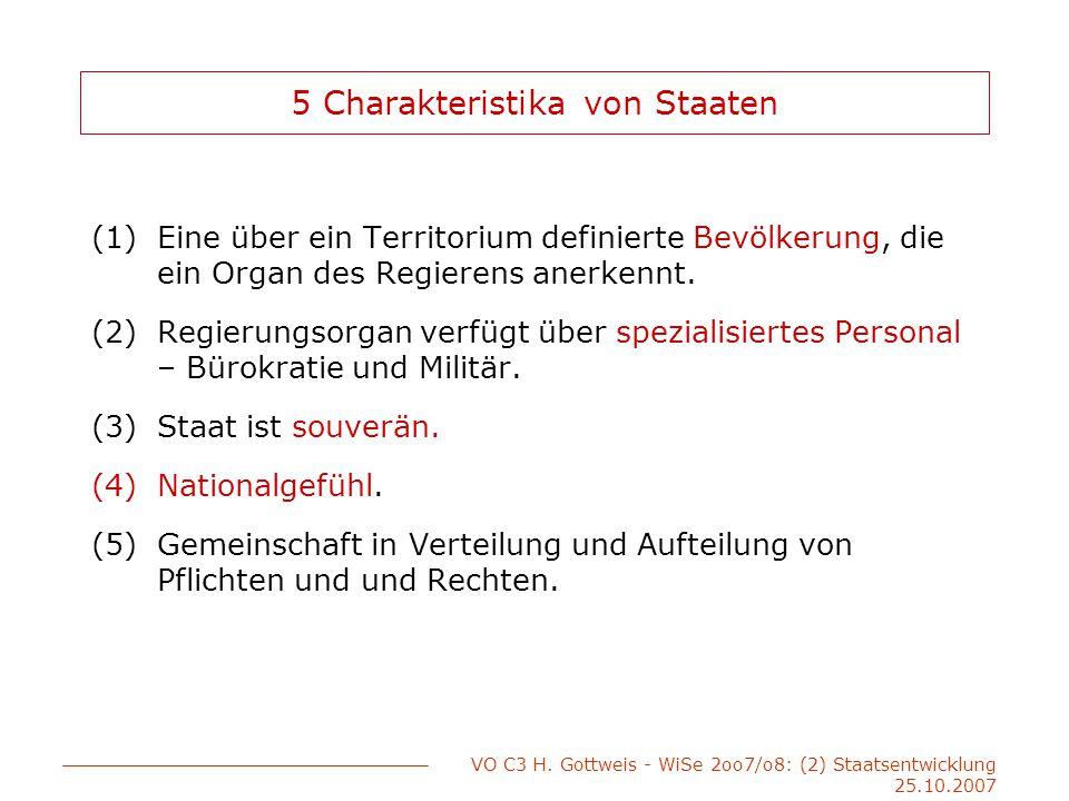 VO C3 H.Gottweis - WiSe 2oo7/o8: (2) Staatsentwicklung 25.10.2007 Postmoderner Staat.