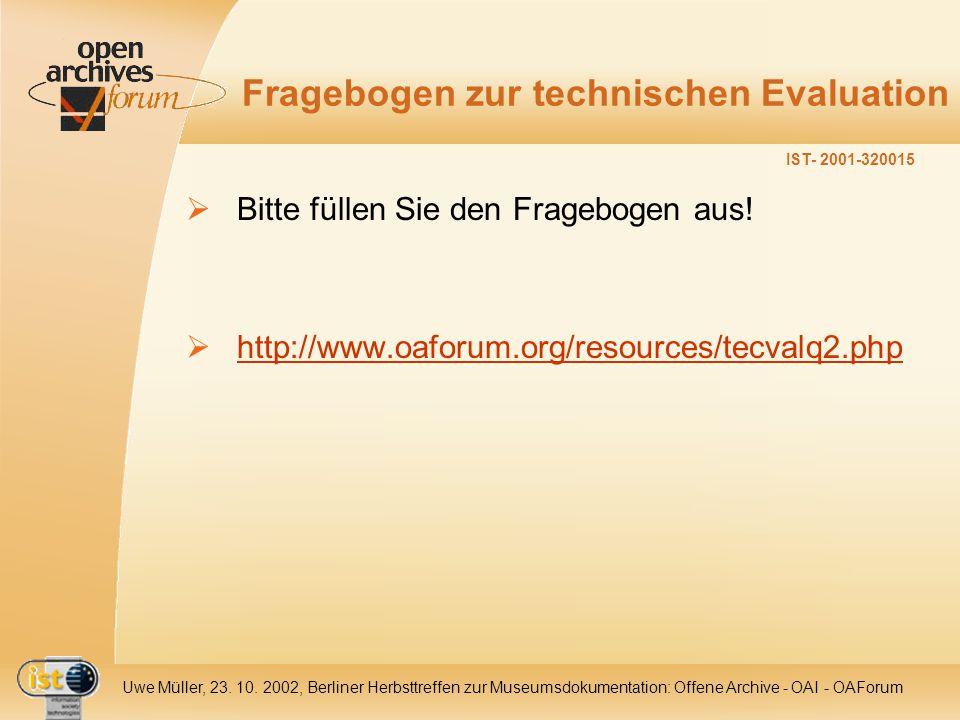 IST- 2001-320015 Uwe Müller, 23. 10.