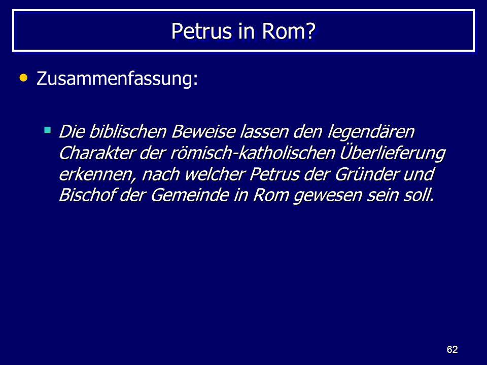 62 Petrus in Rom.