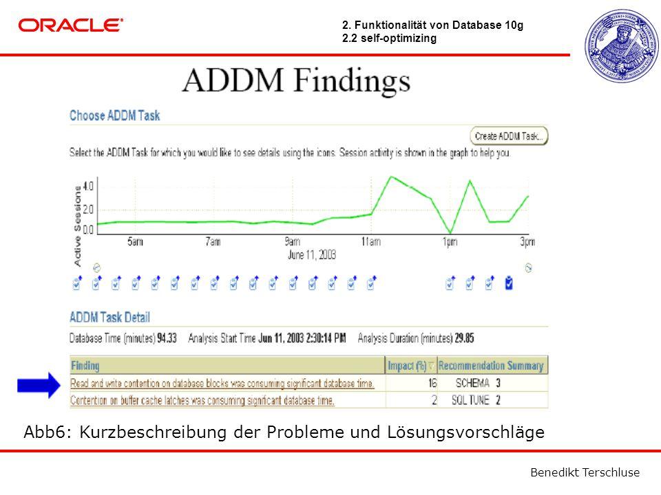 Benedikt Terschluse Abb6: Kurzbeschreibung der Probleme und Lösungsvorschläge 2.