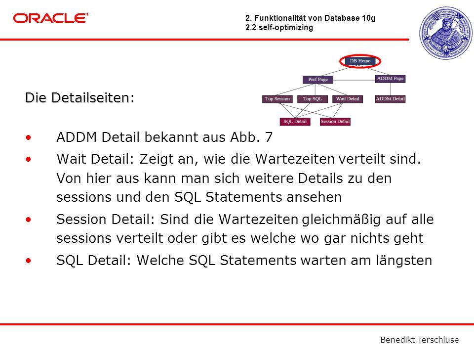 Benedikt Terschluse Die Detailseiten Die Detailseiten: ADDM Detail bekannt aus Abb.
