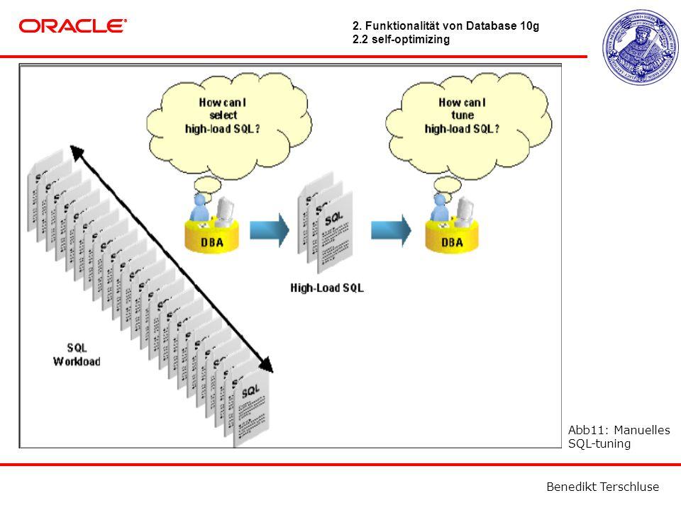 Benedikt Terschluse Abb11: Manuelles SQL-tuning 2.