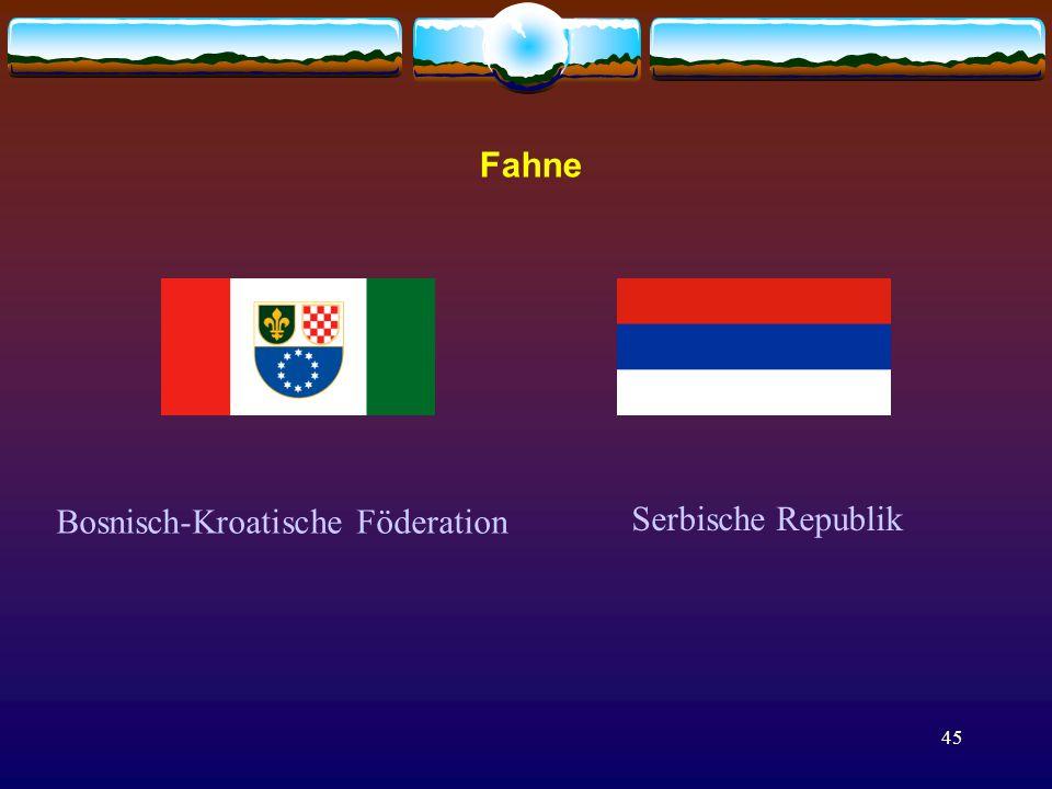45 Bosnisch-Kroatische Föderation Serbische Republik Fahne