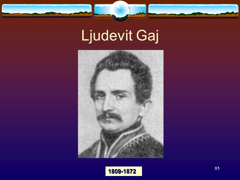 85 Ljudevit Gaj 1809-1872