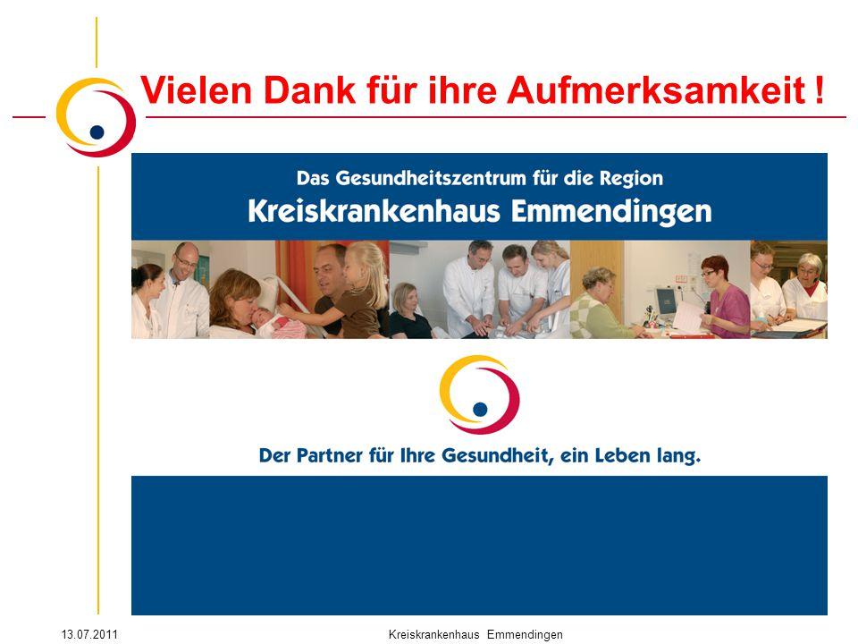 13.07.2011Kreiskrankenhaus Emmendingen Vielen Dank für ihre Aufmerksamkeit !