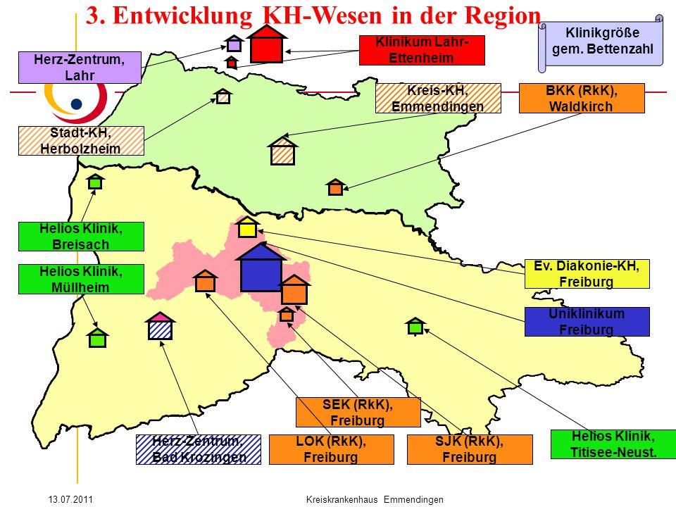 13.07.2011Kreiskrankenhaus Emmendingen. Helios Klinik, Breisach Kreis-KH, Emmendingen Uniklinikum Freiburg Ev. Diakonie-KH, Freiburg LOK (RkK), Freibu
