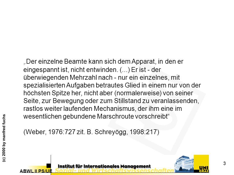 ABWL II PS/UE (c) 2000 by manfred fuchs 84 Heterogenität und Systembestand (Lorsch1970)