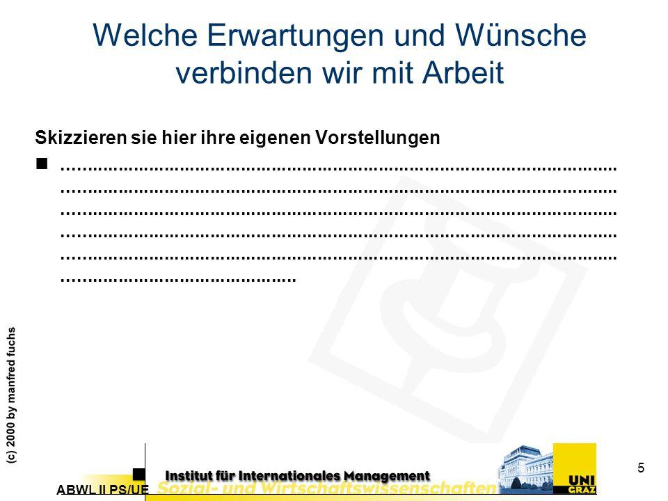 ABWL II PS/UE (c) 2000 by manfred fuchs 66 Differenzbildung Systeme nehmen Umwelt selektiv wahr...