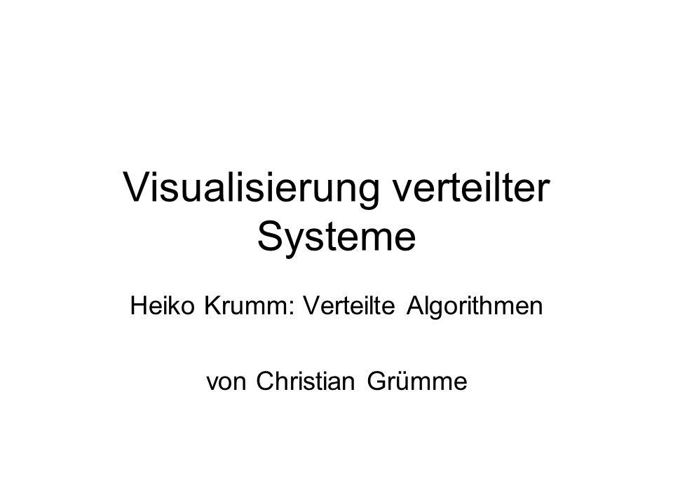 Visualisierung verteilter Systeme Heiko Krumm: Verteilte Algorithmen von Christian Grümme