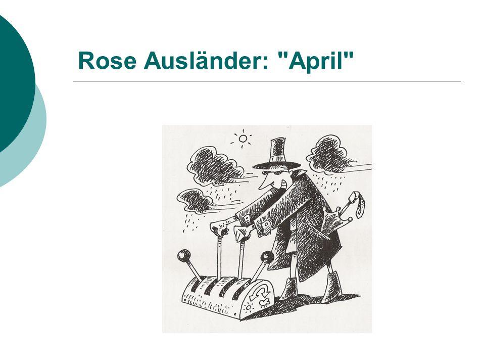 Rose Ausländer: April