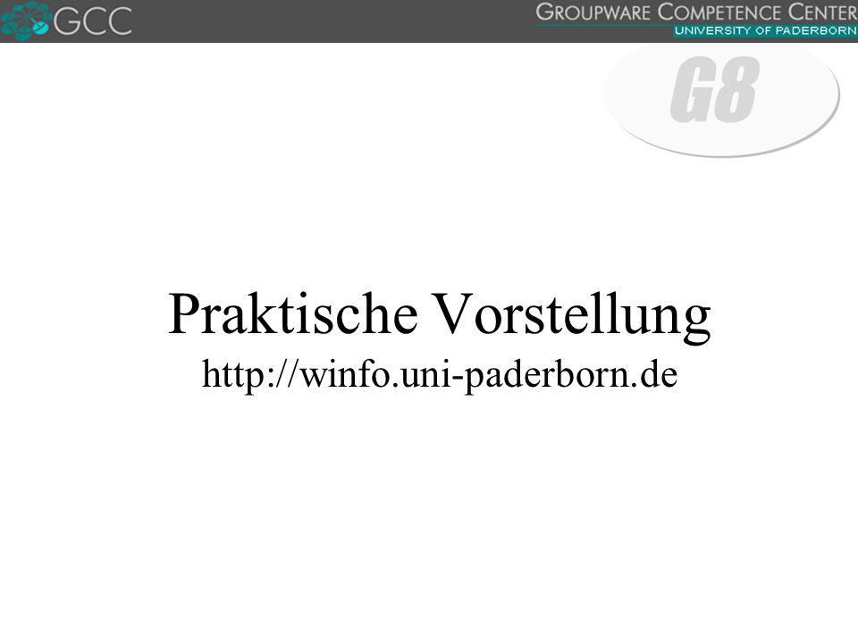 Praktische Vorstellung http://winfo.uni-paderborn.de