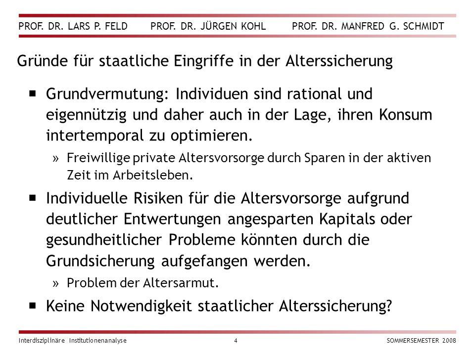 PROF. DR. LARS P. FELD PROF. DR. JÜRGEN KOHL PROF.