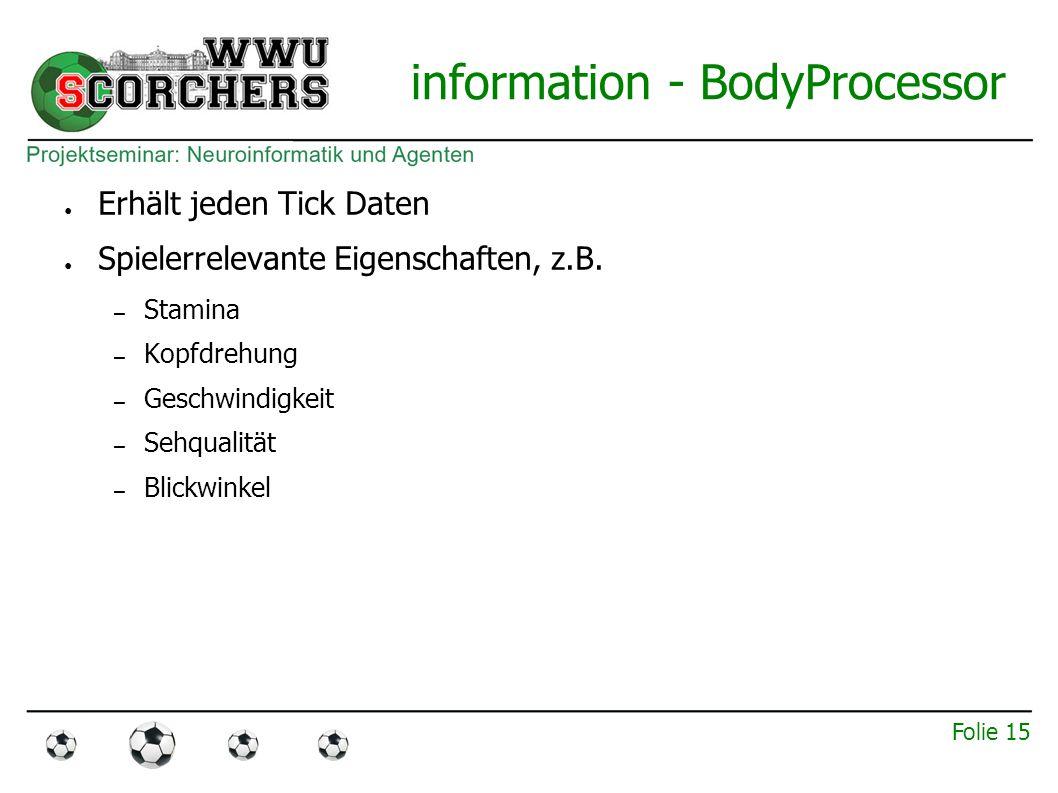 Folie 14 information - AuralProcessor ● Nachrichten vom Schiedsrichter – Z.B.