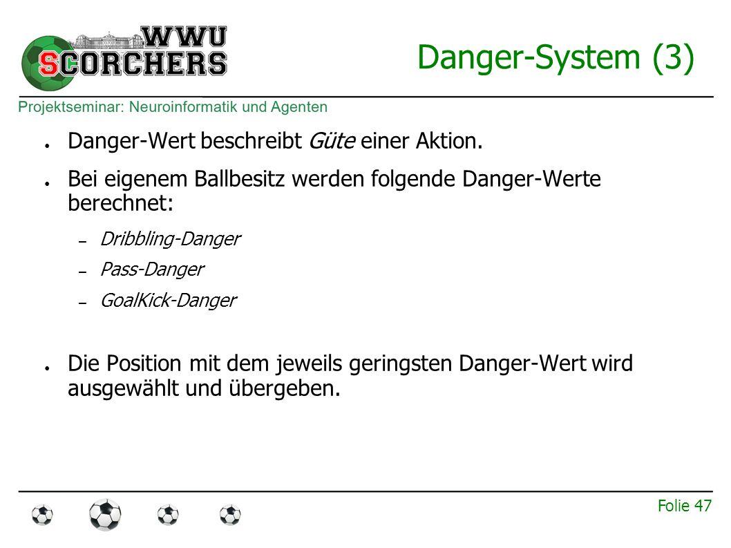 Folie 46 Danger-System (2) ● Bestimmung des Danger-Wertes: 1.