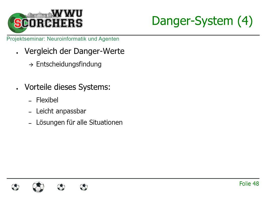 Folie 47 Danger-System (3) ● Danger-Wert beschreibt Güte einer Aktion.