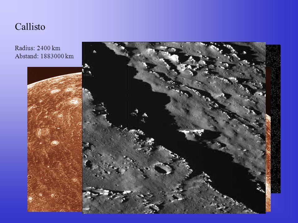Callisto Radius: 2400 km Abstand: 1883000 km