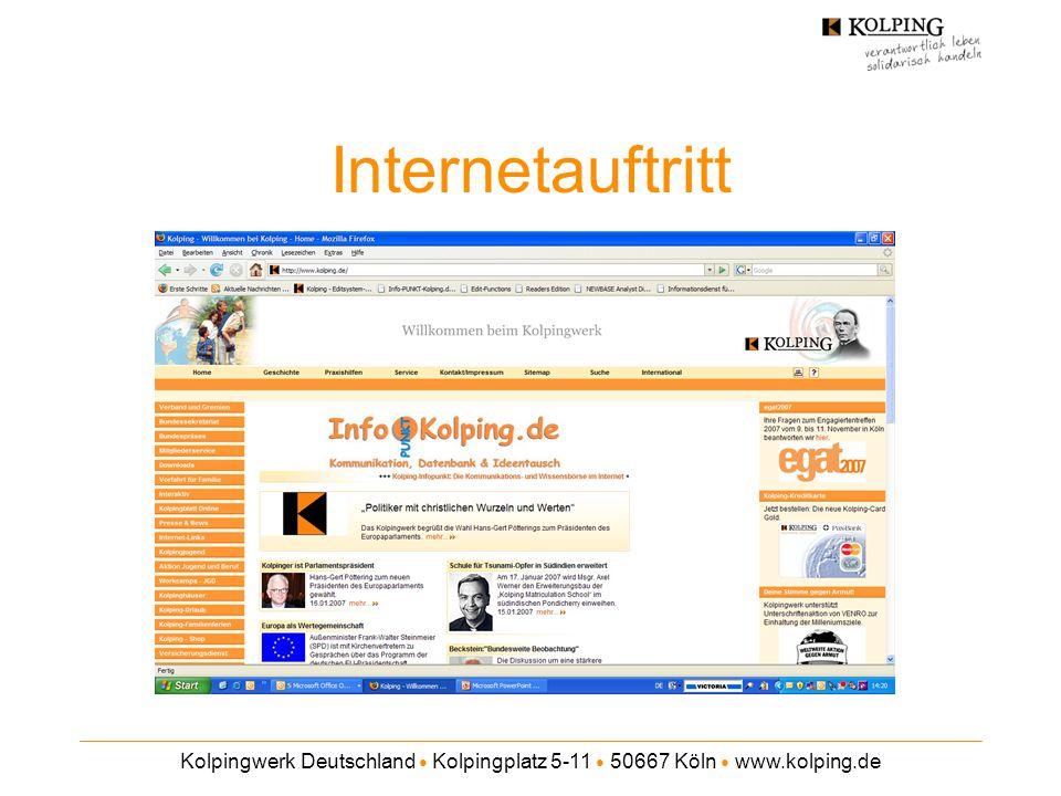 Kolpingwerk Deutschland ● Kolpingplatz 5-11 ● 50667 Köln ● www.kolping.de Internetauftritt