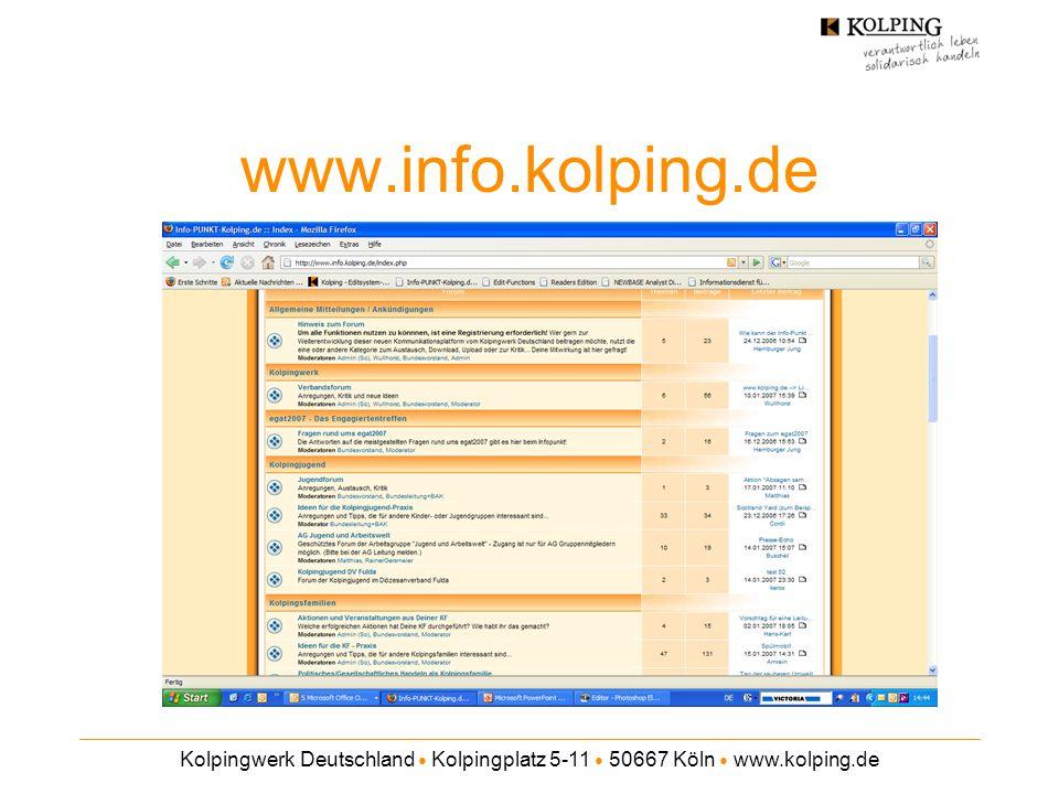 Kolpingwerk Deutschland ● Kolpingplatz 5-11 ● 50667 Köln ● www.kolping.de www.info.kolping.de