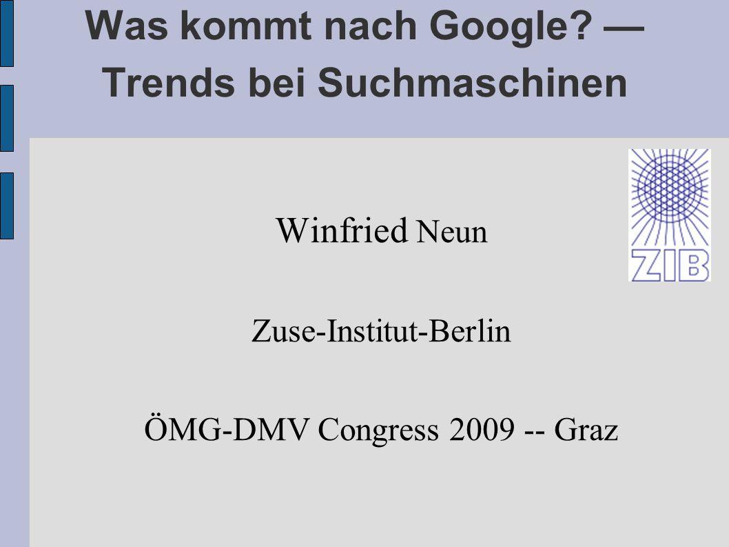 Was kommt nach Google.