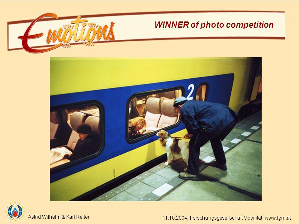 Astrid Wilhelm & Karl Reiter 11.10.2004, Forschungsgesellschaft Mobilität; www.fgm.at WINNER of photo competition