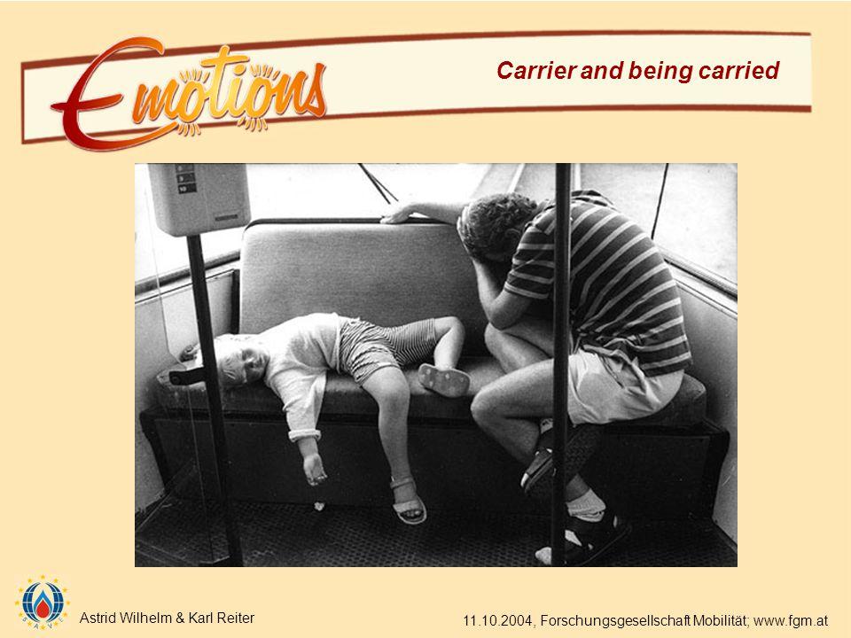 Astrid Wilhelm & Karl Reiter 11.10.2004, Forschungsgesellschaft Mobilität; www.fgm.at Carrier and being carried