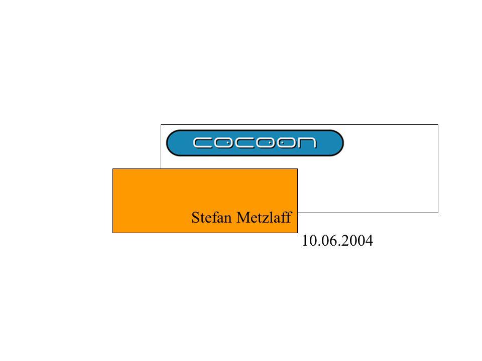 10.06.2004Stefan Metzlaff22 Serializer (3) Beispiel in der Pipeline: SAX sample1.html sample1.xsl sample1.xml GeneratorTransformerSerializer
