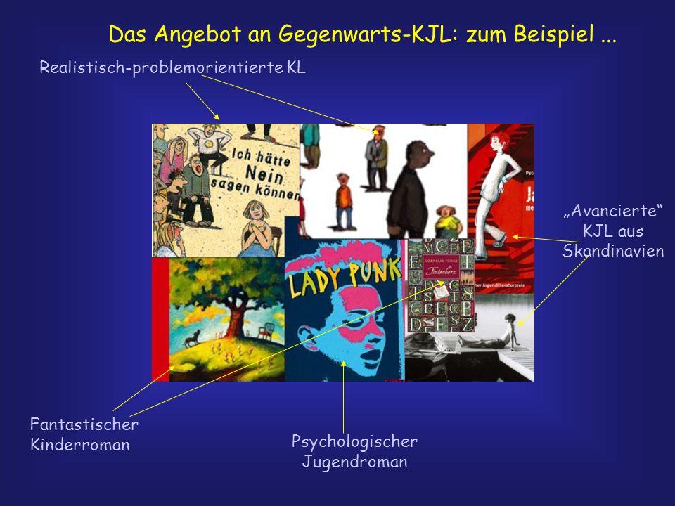 """Das Angebot an Gegenwarts-KJL: zum Beispiel... Realistisch-problemorientierte KL Psychologischer Jugendroman Fantastischer Kinderroman """"Avancierte"""" KJ"""