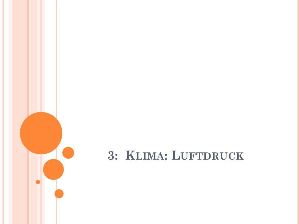 3: K LIMA : L UFTDRUCK