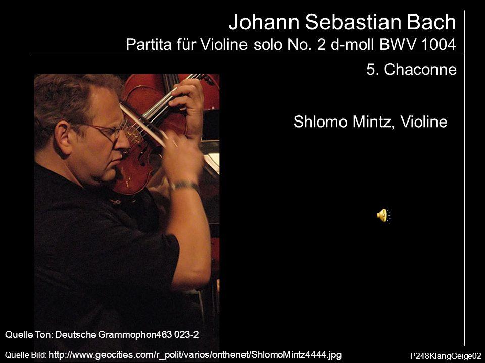 Johann Sebastian Bach Partita für Violine solo No.