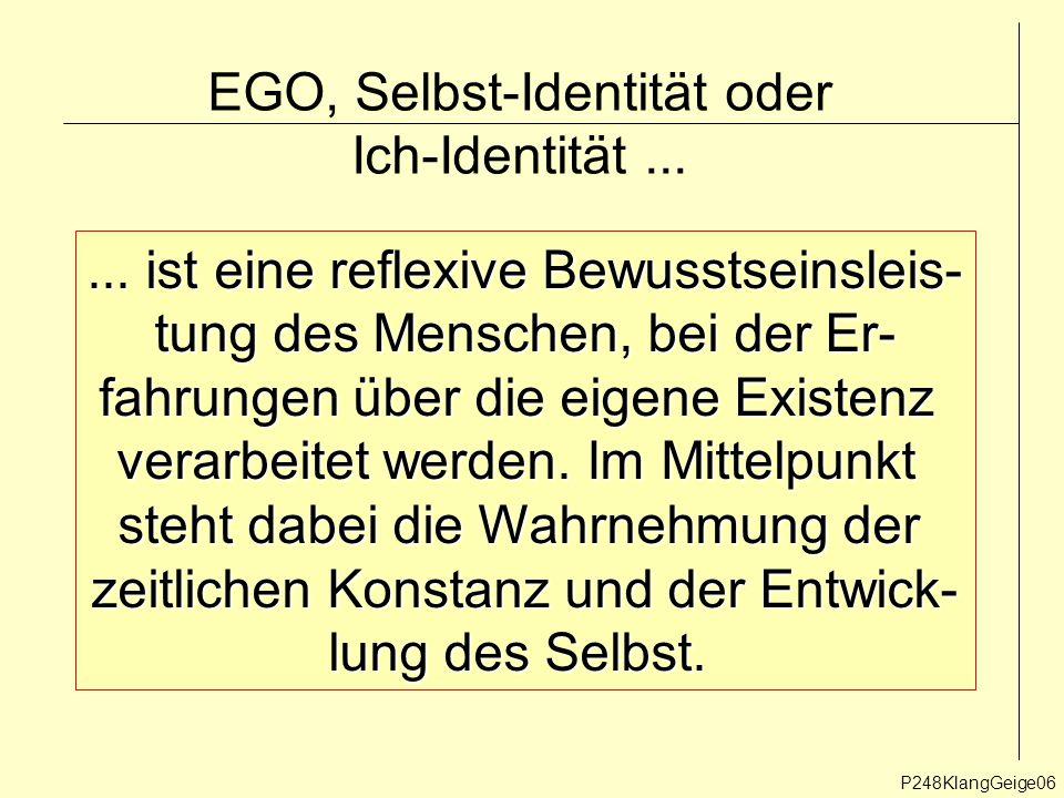 """Ich-Identität als """"episodische Struktur Ich-Identität stellt sich dem Individuum gleichsam als """"erlebter Roman dar."""