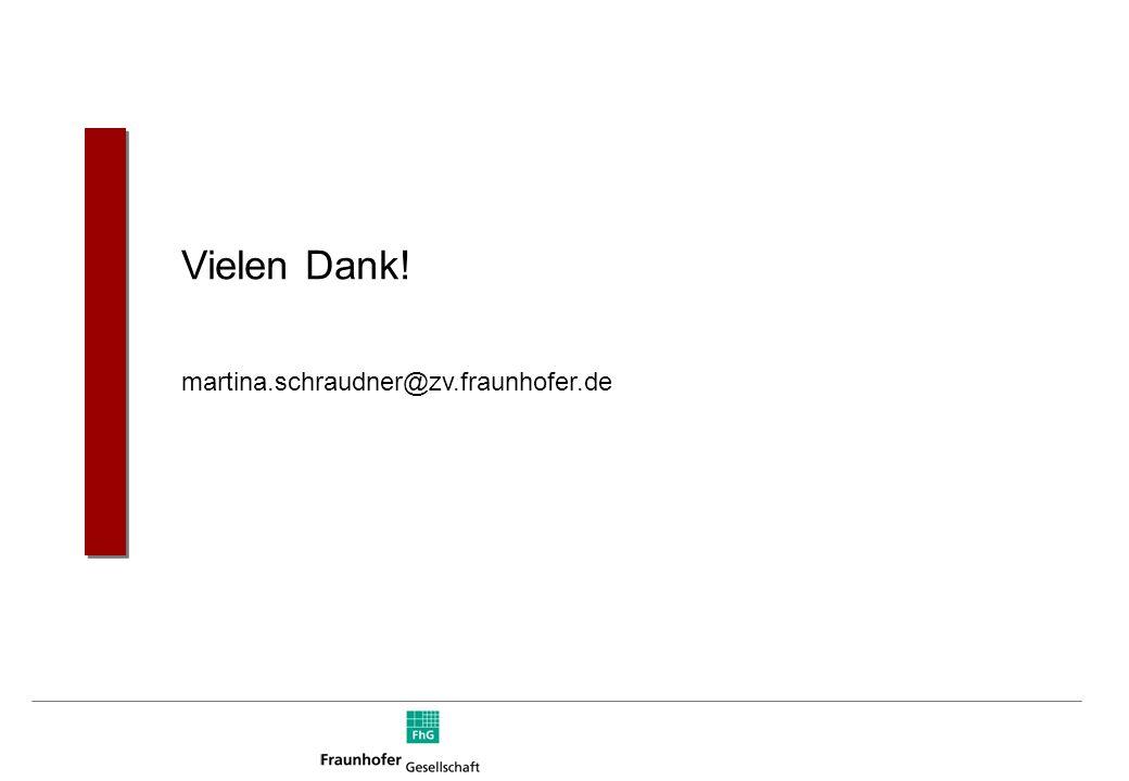 Vielen Dank! martina.schraudner@zv.fraunhofer.de