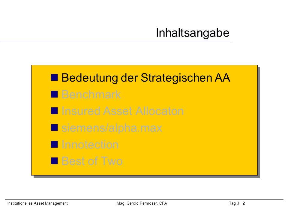 Tag 3 3Institutionelles Asset ManagementMag.