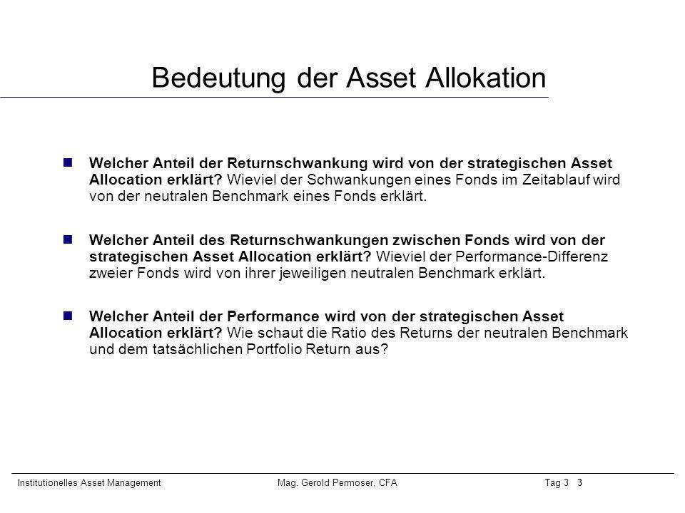 Tag 3 4Institutionelles Asset ManagementMag.