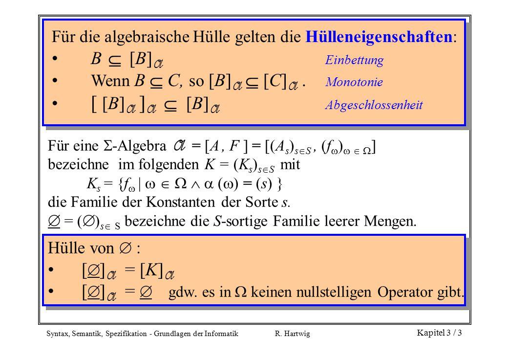 Syntax, Semantik, Spezifikation - Grundlagen der Informatik R.