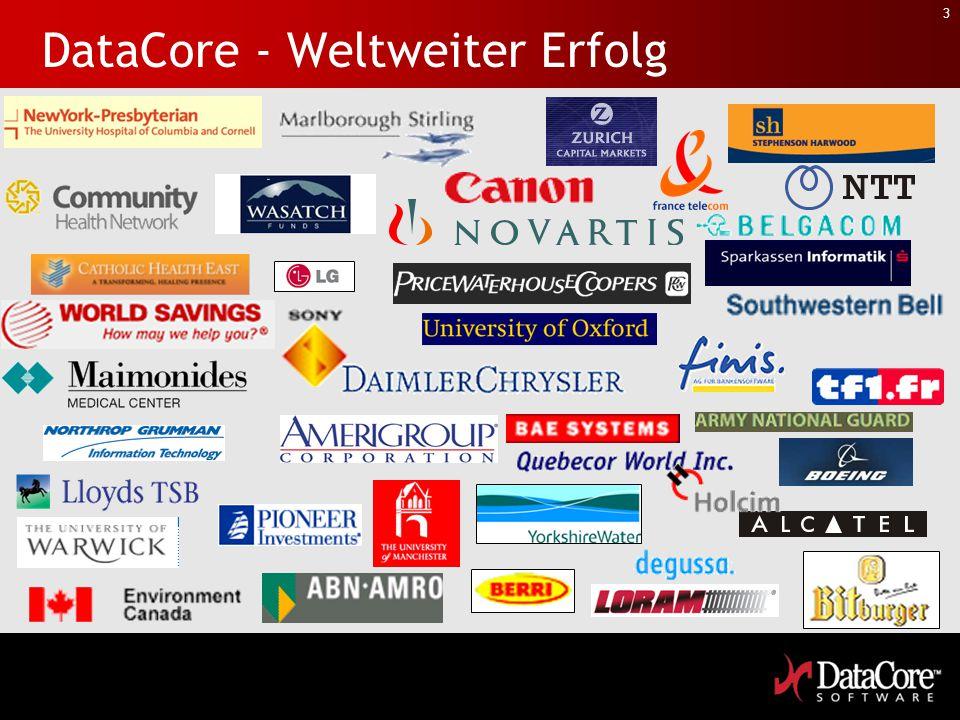 3 DataCore - Weltweiter Erfolg