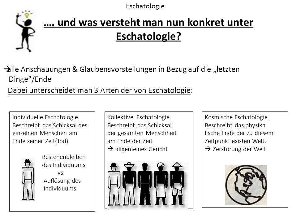 """…. und was versteht man nun konkret unter Eschatologie? Eschatologie  alle Anschauungen & Glaubensvorstellungen in Bezug auf die """"letzten Dinge""""/Ende"""