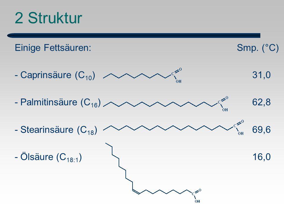 2 Struktur Einige Fettsäuren: Smp.