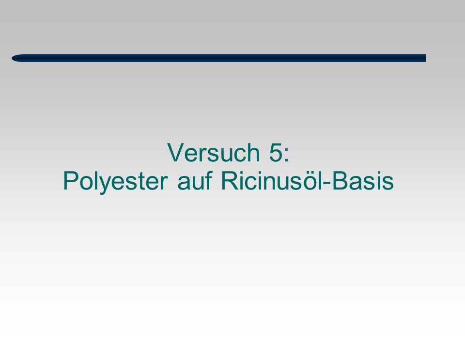 Versuch 5: Polyester auf Ricinusöl-Basis