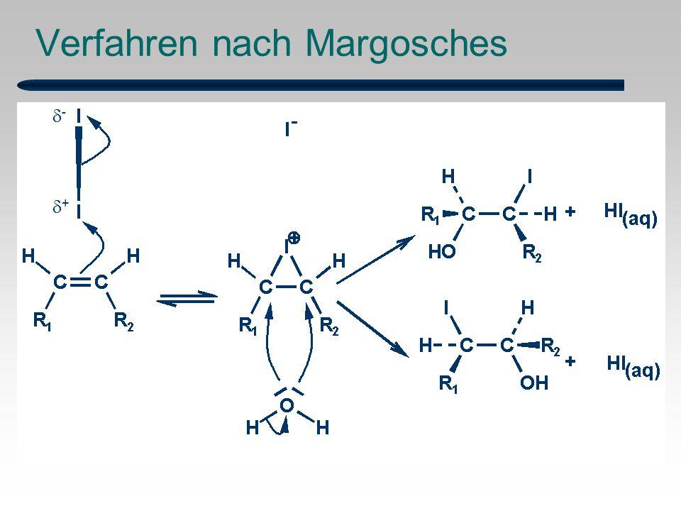Addition von Iod an eine Doppelbindung Verfahren nach Margosches ++ --