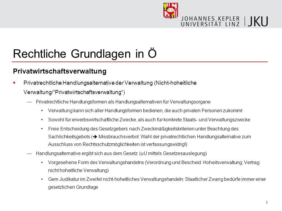 """3 Privatwirtschaftsverwaltung  Privatrechtliche Handlungsalternative der Verwaltung (Nicht-hoheitliche Verwaltung/""""Privatwirtschaftsverwaltung"""") —Pri"""