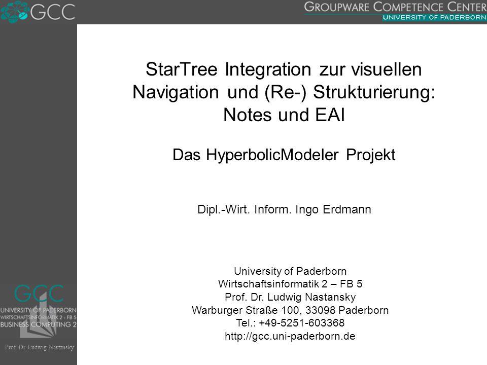 Prof. Dr. Ludwig Nastansky University of Paderborn Wirtschaftsinformatik 2 – FB 5 Prof.