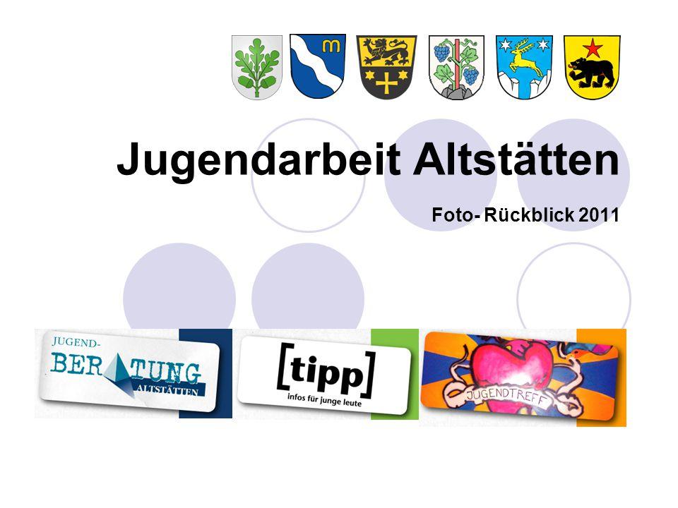 """Rückblick Jugendarbeit Altstätten 2011 seit April online: die 18 thematischen """"tipp - infos für junge leute Flyers, guck: www.jugend-altstaetten.ch"""