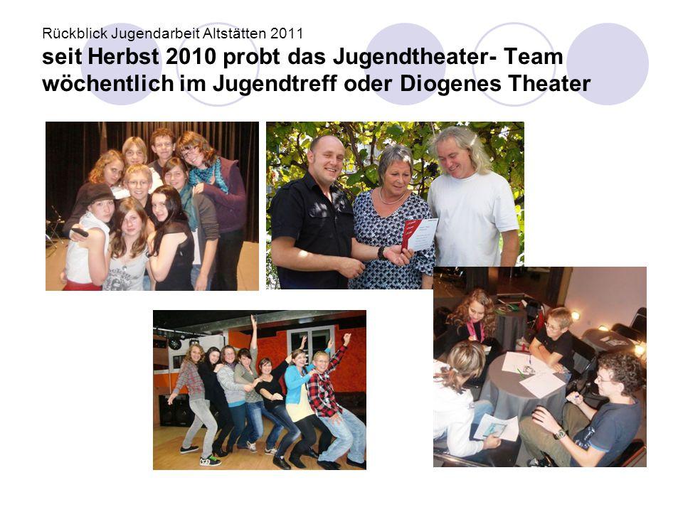"Rückblick Jugendarbeit Altstätten 2011 24.5.SSA ReMa: ""Compi, H@ndy & co. → I+G Halbtag für 1."
