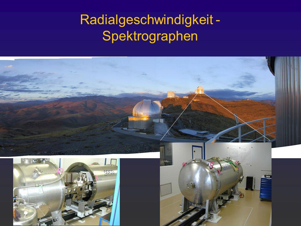 HARPS @ ESO 3.6m Teleskop Radialgeschwindigkeit - Spektrographen