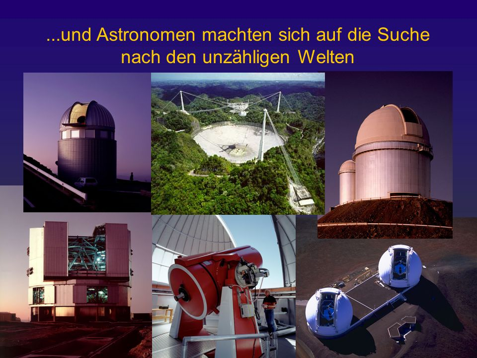 erdähnliche Planeten Gasriesen Braune Zwerge Die Suche nach extrasolaren Planeten (um sonnenähnliche Sterne) 1.Direkte Detektion 2.Transit 3.Mikrolinsen 4.Radialgeschwindigkeit